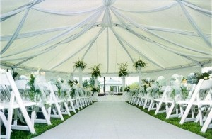 40x60 Ceremony Tent Custom Decorating